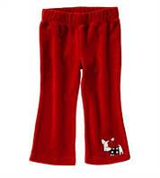 Велюровые штаны с аппликацией Crazy8 для девочки
