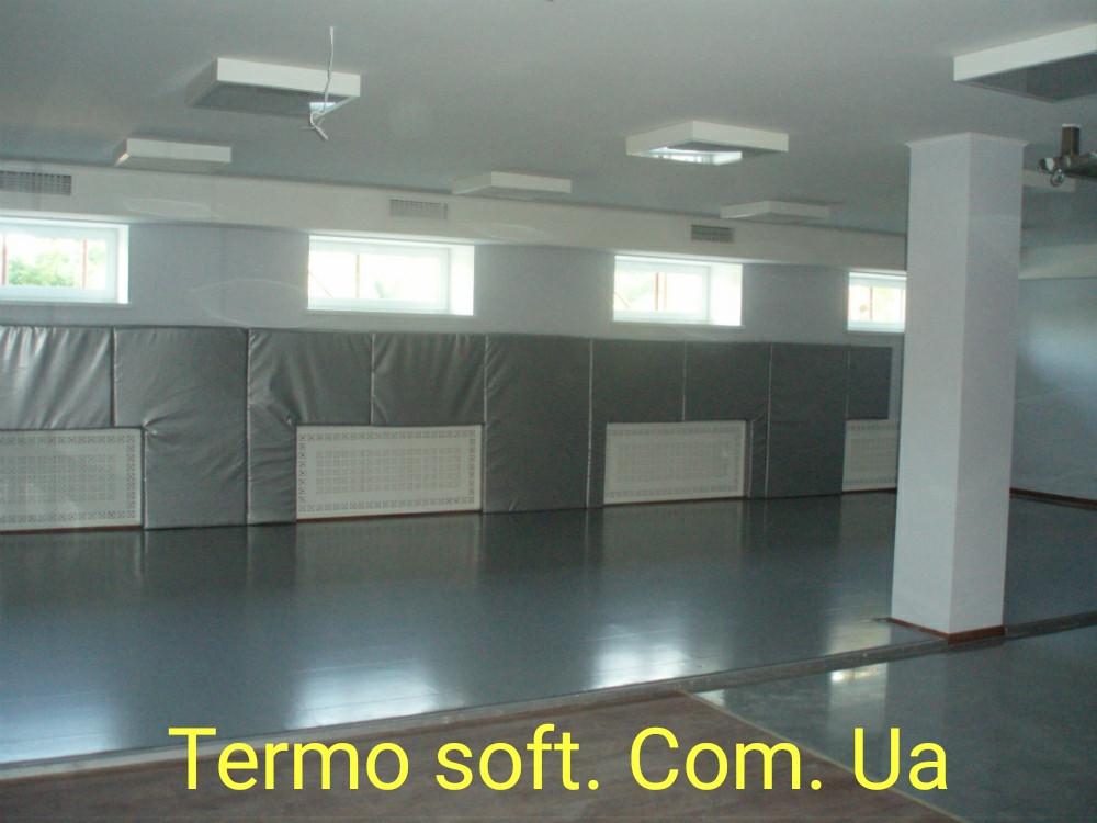 Стеновые протекторы. Мягкая обшивка стен и колон в спортивных залах.