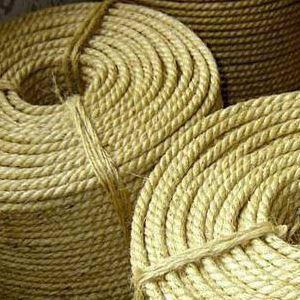 10 мм - 50 м Сизалевая веревка для когтеточки Канат сизалевый светлый, фото 2