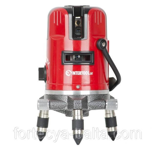 Рівень лазерний професійний 5 лазерних головок звукова індикація INTERTOOL МТ-3011