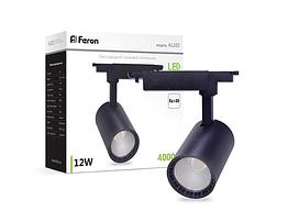 Трековый светильник Feron AL102 12W черный
