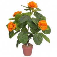 Пион древовидный желтый искусственное декоративное растение для помещений коричневый горшок высота 62 см