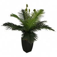 Пальма искусственная декоративное растение черный квадратный горшок высота 62 см