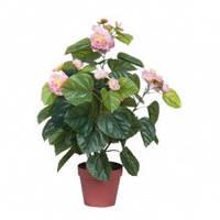 Камелия искусственное декоративное растение в коричневом горшке высота 60 см