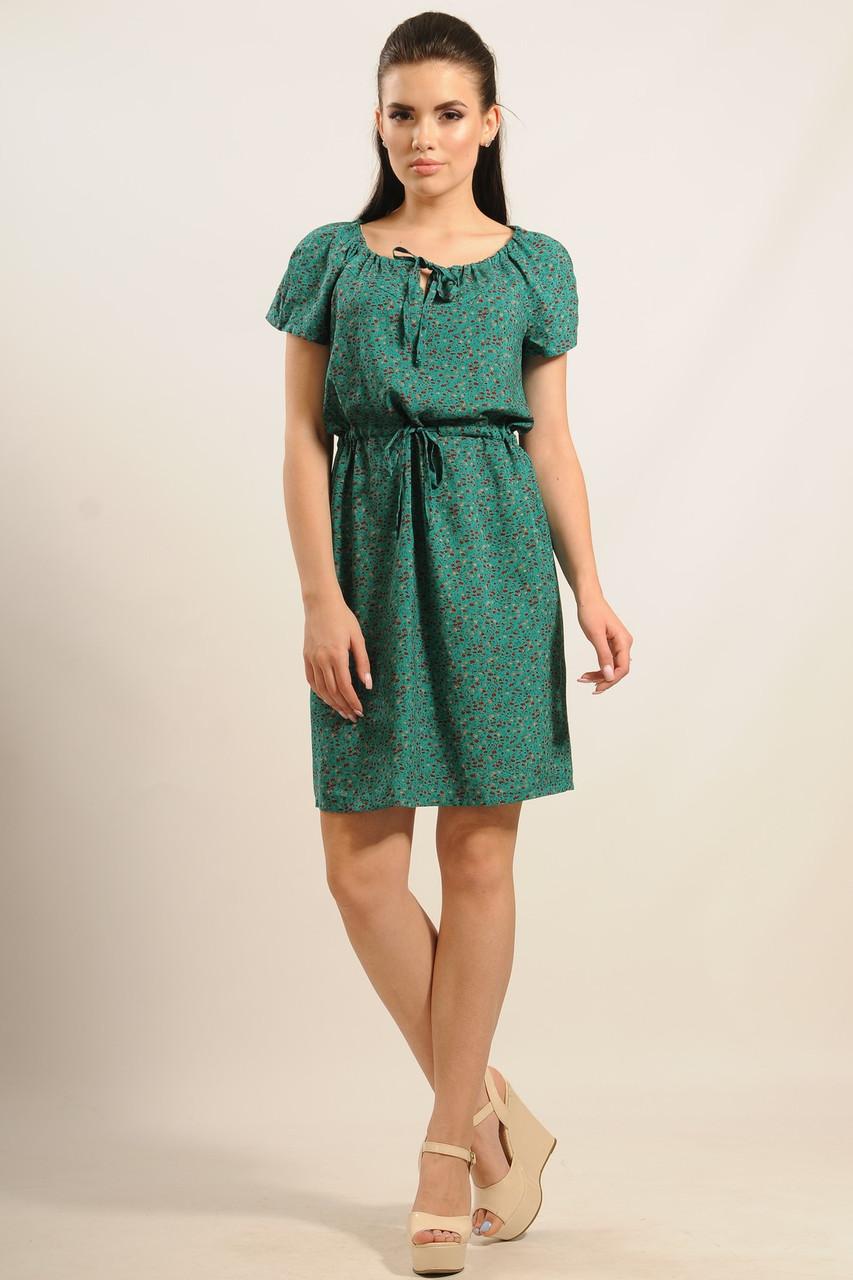 36258b311a6 Легкое свободное летнее платье с цветочным принтом из натуральной летней  ткани штапеля