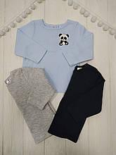 Кофточки наборна кнопках  из 3 единиц для Мальчика :голубой+т.син+меланж