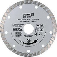 Диск отрезной алмазный TURBO D - 125 мм - VOREL
