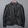 Мужская короткая кожаная куртка. (01326)