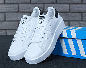 Женские кроссовки Adidas Stan Smith Bold, натуральная кожа