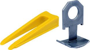 Клипсы 300 шт и клинья 100 шт для выравнивания преподавания керам плитки упак 400 шт - VOREL