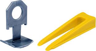 Клипсы и клинья для выравнивания керамической клиткы Комплект 50 + 50 шт уп - VOREL