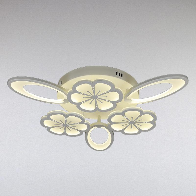 Люстра LS-13133-3+3 WH LED  белая