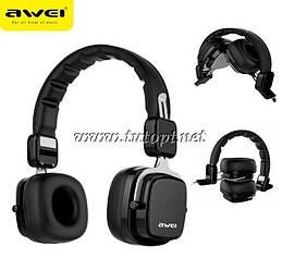 Наушники беcпроводные awei A750BL с Bluetooth, MP3 и FM