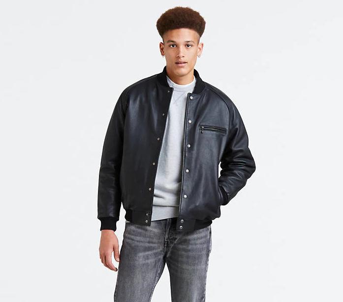 Кожаная куртка Levi's® Bomber - Black