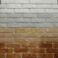 Гипсовая плитка ,  Римский кирпич, цвет белый