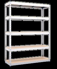 Стеллаж полочный МКП на зацепах (3120х1800х500), ДСП, 5 полок, 300 кг/полка, фото 3
