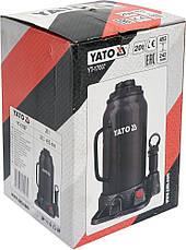 Бутылочный домкрат 20 тонн YATO YT-17007, фото 2