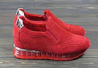 Кроссовки женские замшевые Lonza FLM22-5 RED 36 23 см, фото 1