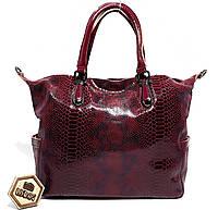 Женская кожаная сумка хобо из лазерного замша Galanty, Бордовая