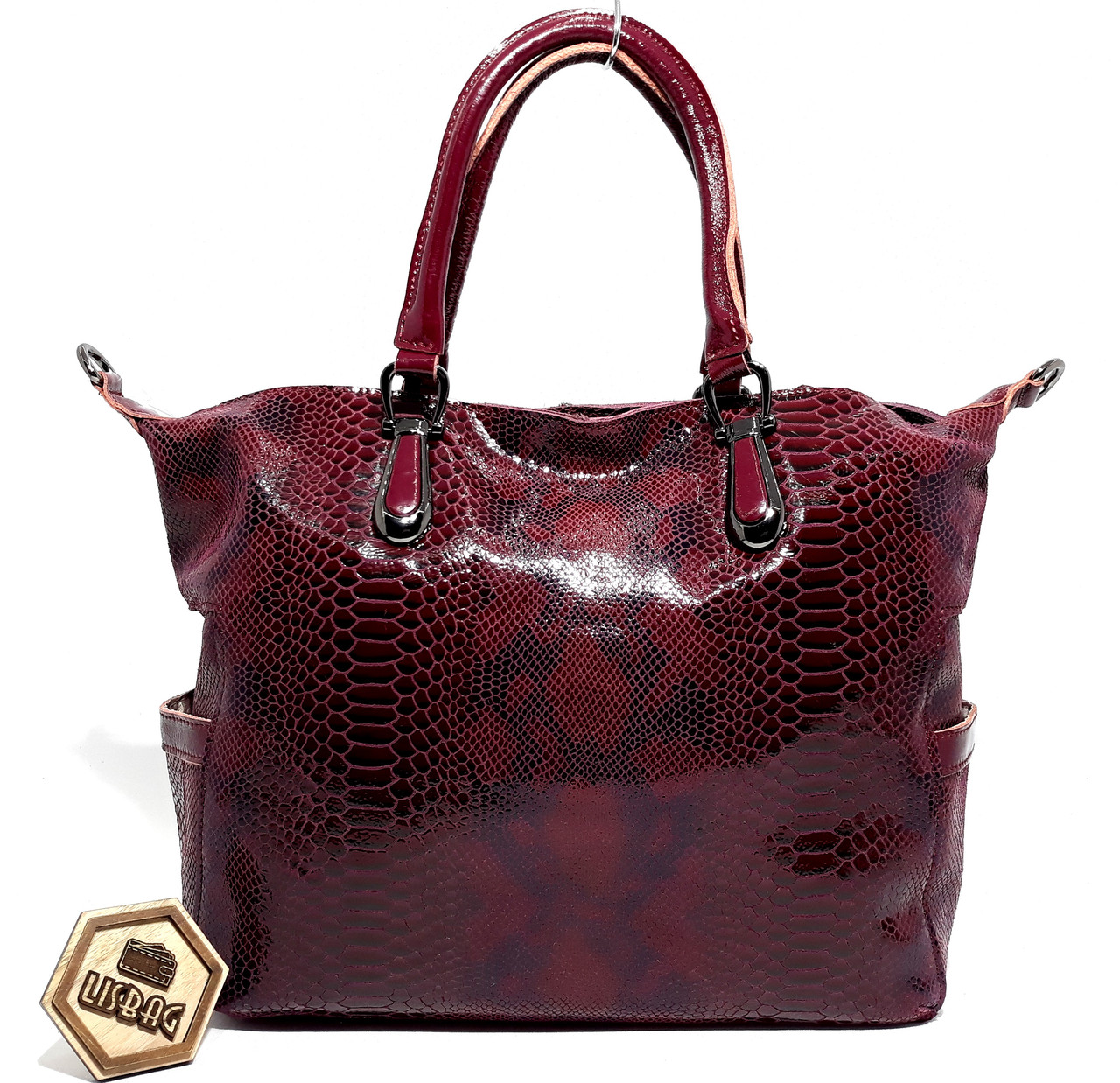 190dcb6a5e67 Женская кожаная сумка хобо из лазерного замша Galanty, Бордовая - Интернет  магазин Lisbag в Умани