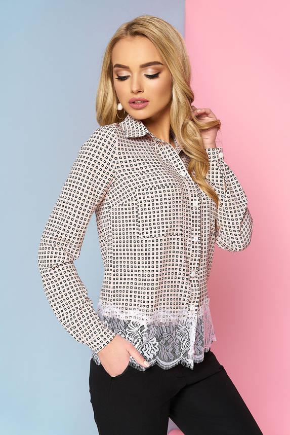 Женская блузка рубашка с кружевом, фото 2