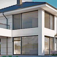 Алюминиевые окна Шуко AWS 75.SI+  с солнцезащитой