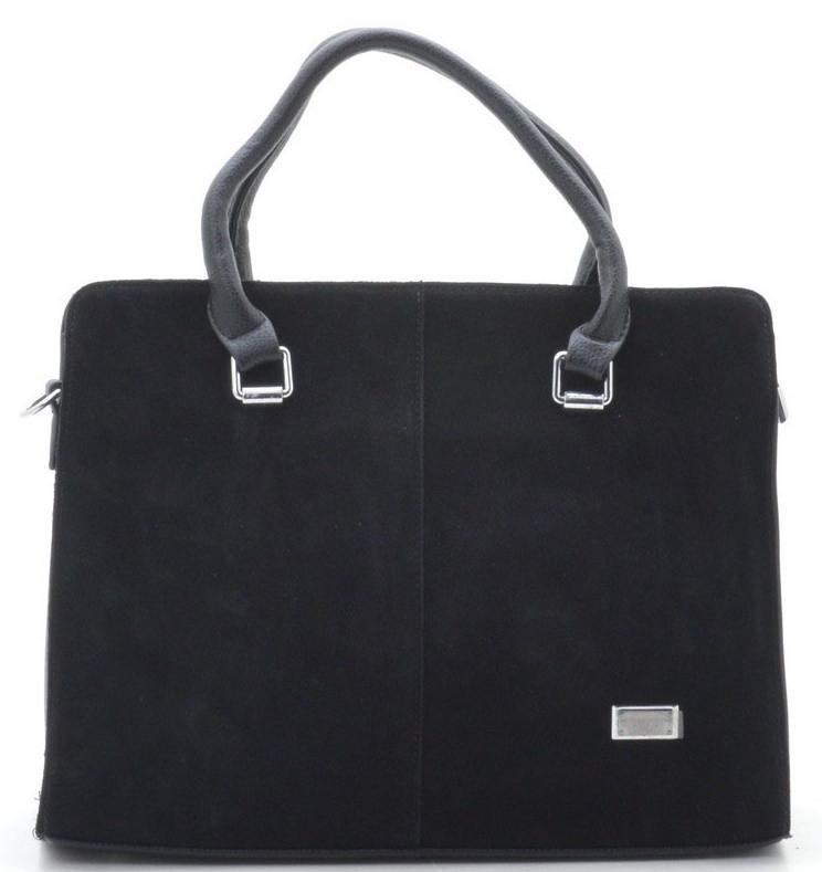 c01ad5528c87 Женская замшевая сумка 881337 черная Женская сумка из натурального замша