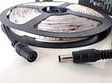 Светодиодная LED лента 5050 белая 5 метров блок питания силиконовая защита пятиметровая ЛЕД с блоком питания, фото 3