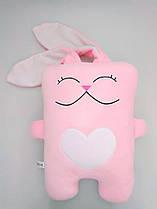 Мягкая игрушка подушка Strekoza Влюбленный Заяц 34см розовый