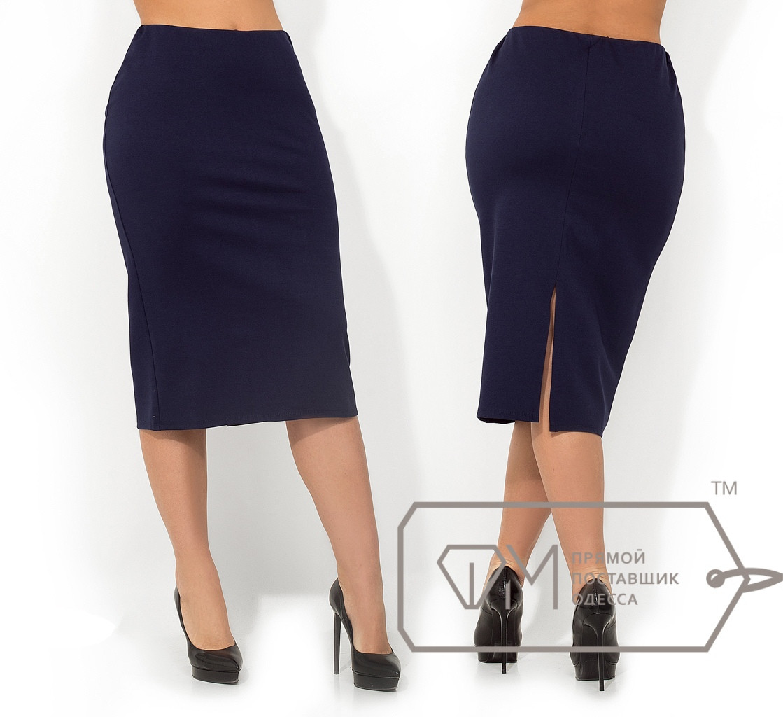 Трикотажная юбка миди
