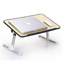 Подставка Laptop table A8. Эргономичный стол для ноутбука с USB-вентилятором регулируется по высоте