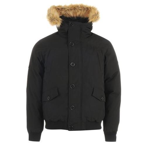 Мужская зимняя куртка пуховик Firetrap Down Bomber Jacket черная оригинал