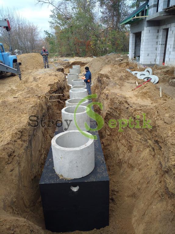 Хозяйственно-бытовая и ливневая канализация для 5-ти таунхаусов с.Вита-Почтовая