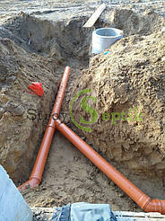 Хозяйственно-бытовая и ливневая канализация для 5-ти таунхаусов с.Вита-Почтовая 7