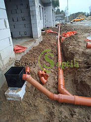 Хозяйственно-бытовая и ливневая канализация для 5-ти таунхаусов с.Вита-Почтовая 10