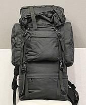 Тактический (туристический) рюкзак  на 65 литров Black (ta65 чёрный), фото 3
