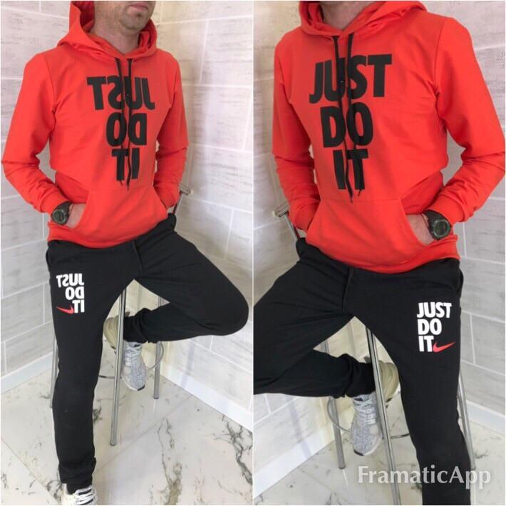 82727792e12 Мужской стильный красно- черный спортивный костюм .Ткань двухнитка (весна-  осень)
