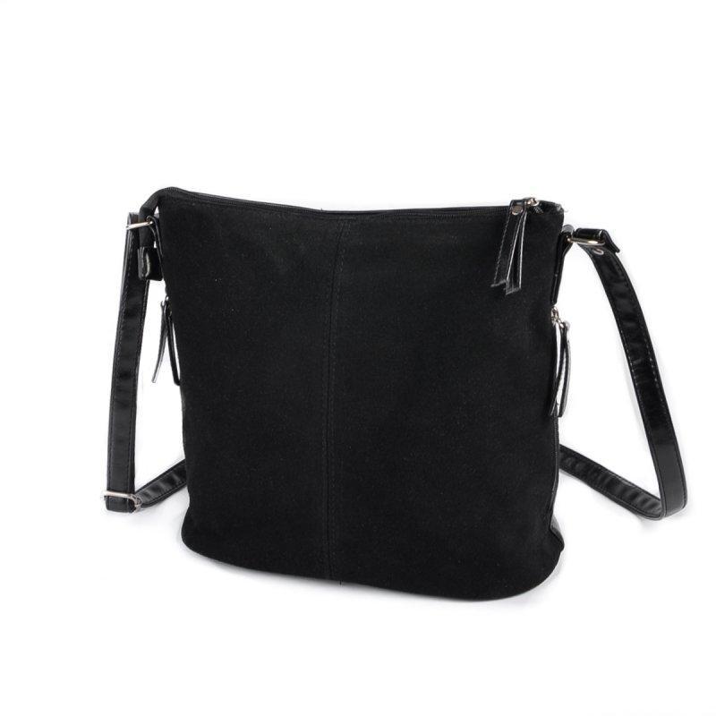 df58f5e137e6 Замшевая сумка М78-замш/33 черная через плечо на молнии: продажа ...