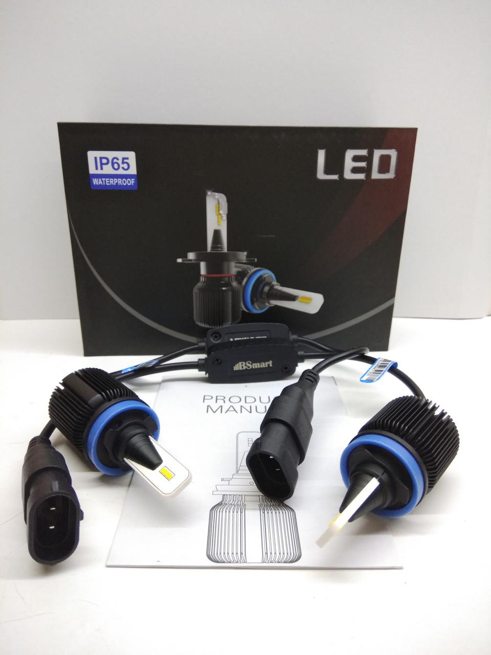 LED светодиодные авто лампы M1 CSP Южная Корея, H11, H8, H9, H16JP, 8000 Люмен, 40Вт, 9-32В