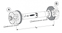 Карданний вал W 200E SD15 1210 0V/1, фото 2