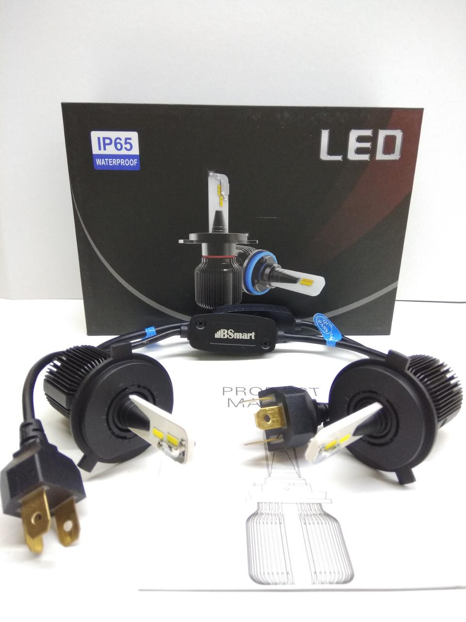 Автолампы LED M1 CSP(Южная Корея), H4, 8000LM, 40W, 9-32V