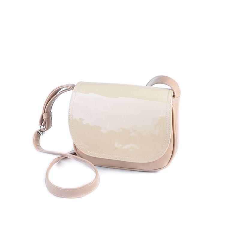 26721f1b9eda Кофейная маленькая сумка М55-29/77 через плечо кросс-боди с молочным  клапаном