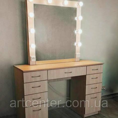 Гримерный стол, стол визажиста/парикмахера, туалетный стол с зеркалом и выдвижными ящиками