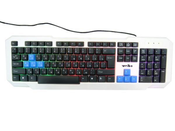 Игровая русская клавиатура с цветной подсветкой USB FC-719