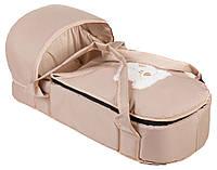 Сумка - переноска, люлька  для новорожденного Молочная с мишкой