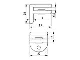 Кріплення для скляної полиці GIFF MP4006 сатин, фото 2