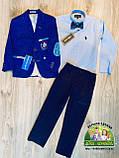 Нарядный костюм для мальчика 5 лет: пиджак, рубашка и брюки, фото 2