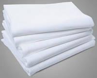 Простынь белая (синтетика) 220*150 (от 100 шт)