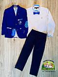 Нарядный костюм для мальчика 5 лет: пиджак, рубашка и брюки, фото 3