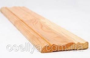 Лиштва дерев'яна сосна зрощена фігурна 13х70х2200 мм.